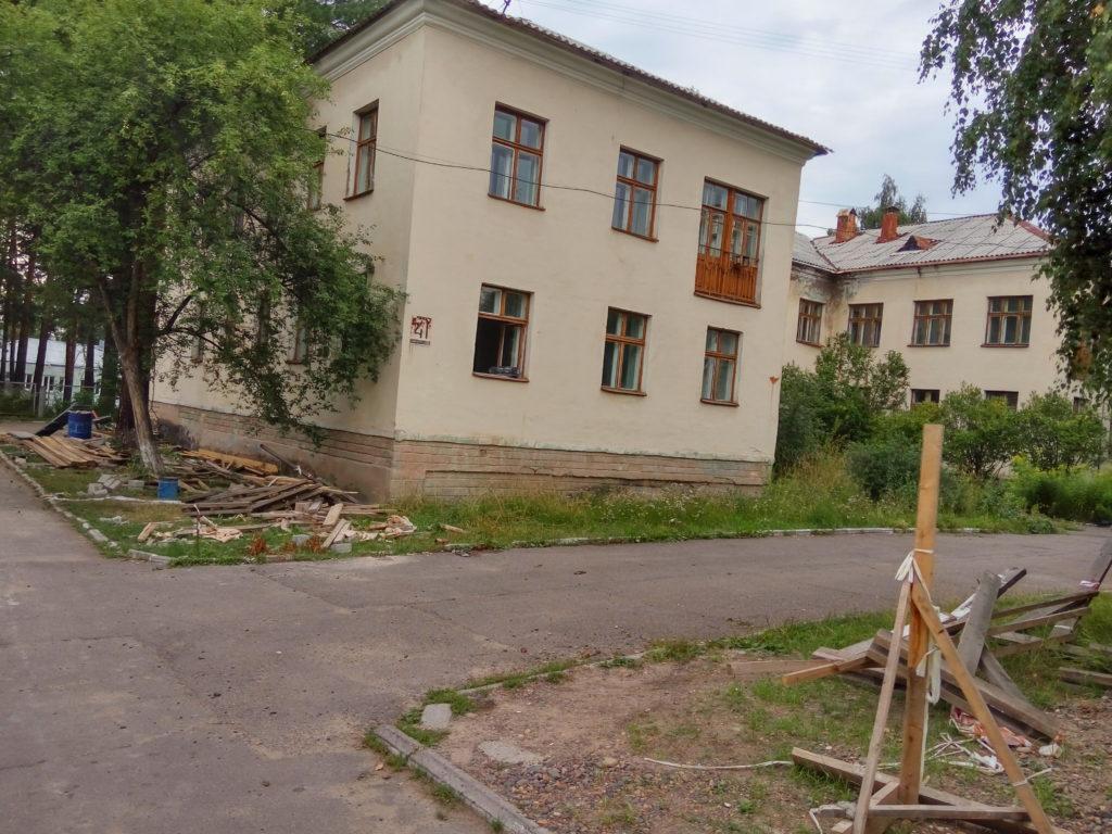 Здание бывшего наркологического диспансера по ул. Комсомольская, 41. Хозяйственное ведение Клинической больницы № 51. Требует ремонта.