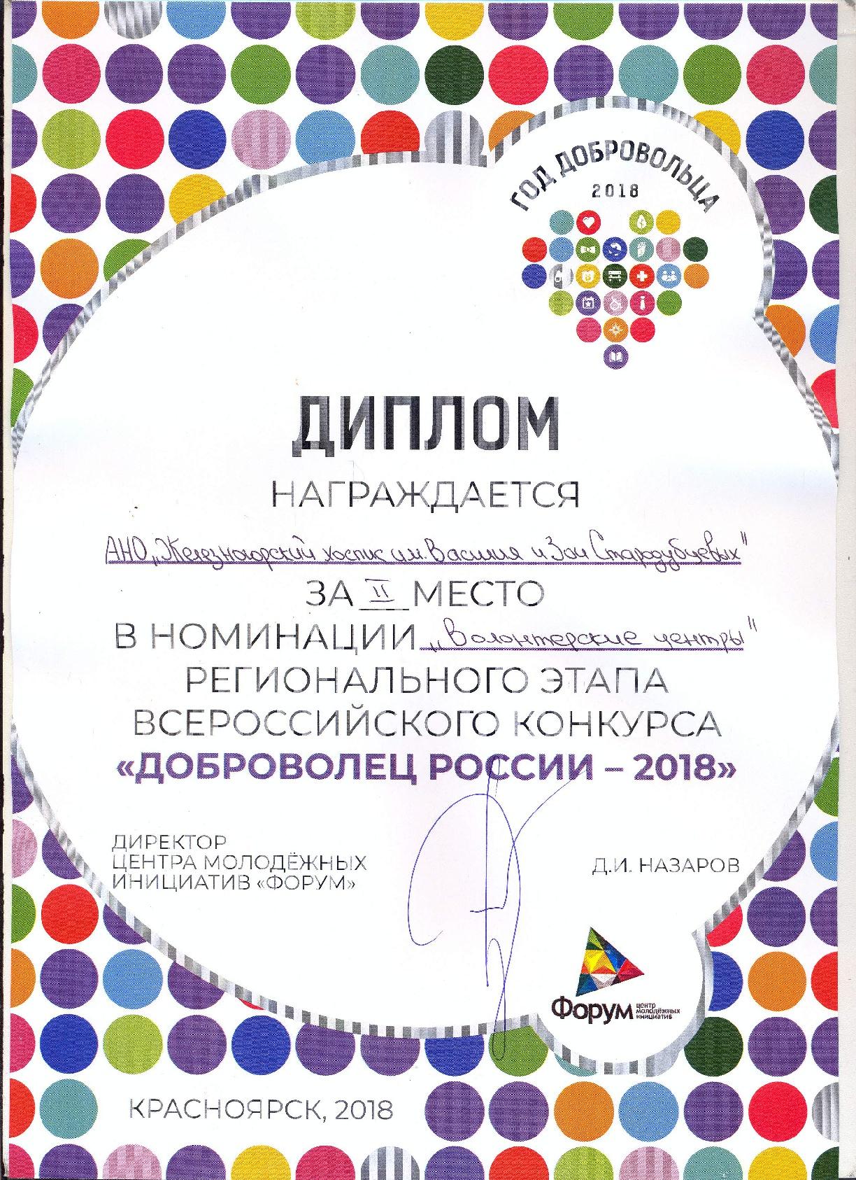 Краевой финал конкурса «Добровольцы России»